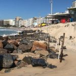 Orla de Copacabana destruída pela fúrida do mar!